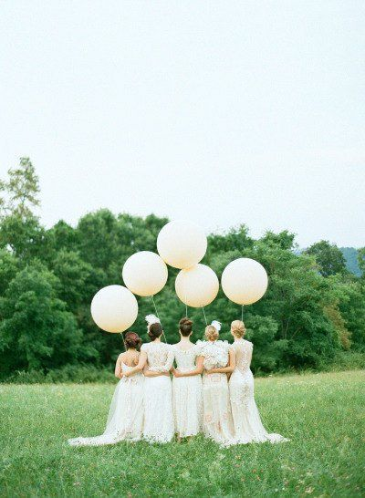 Giant balloons in your choice of colour - see more on http://themerrybride.org/2014/04/25/friday-finds-from-etsy-com-5/