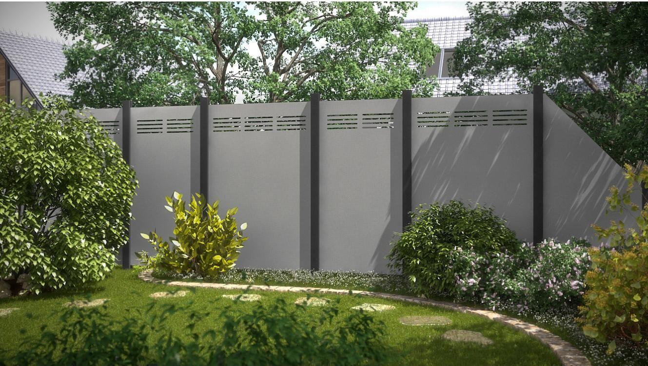 Claustra Alu Leroy Merlin panneau aluminium plein 2724, l.120 x h.180 cm, gris clair