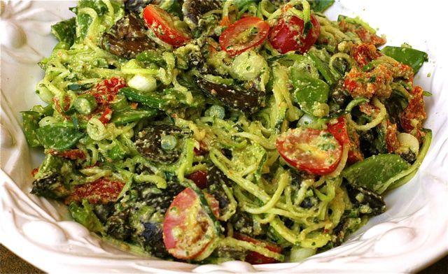 Raw recipes zucchini pasta