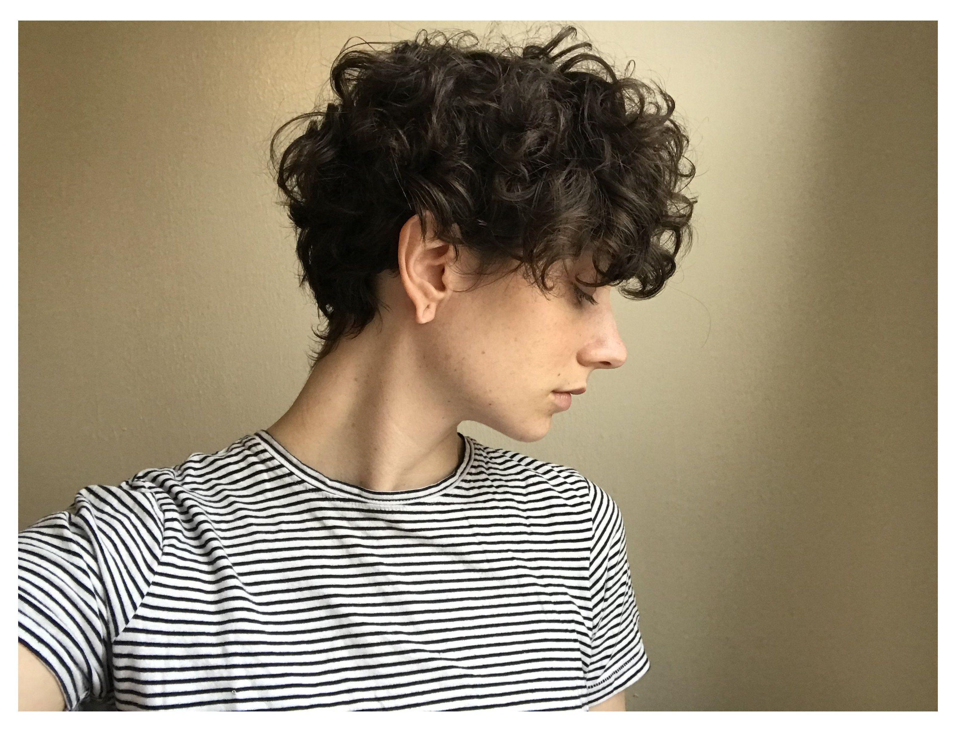 short curly hair pixie growing out