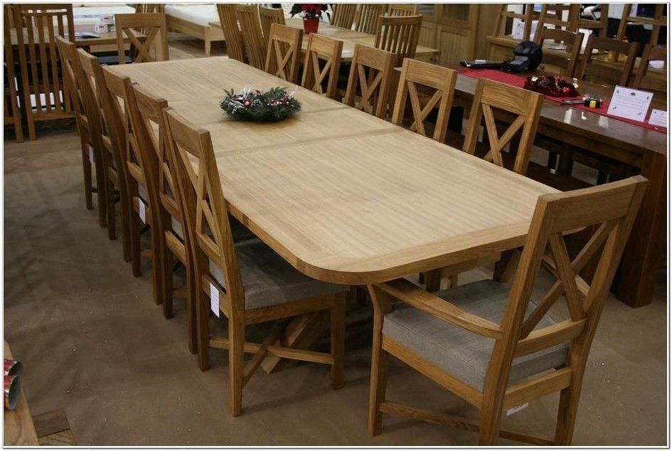 Amish Wood Dinng Table And Chairs Seats 10 Google Search