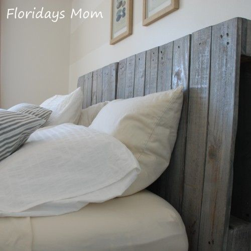 Wood palette headboard using minwax gray stain from www for Different headboards