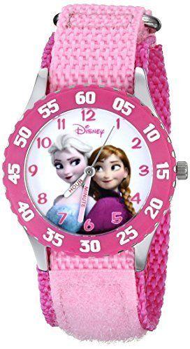 Disney Kids' W000970 Frozen Anna Snow Queen Stainless Steel Watch