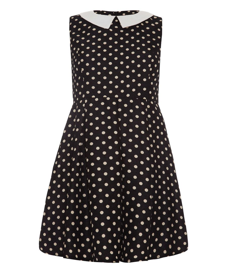 Look at this Black Polka Dot A-Line Dress on #zulily today!