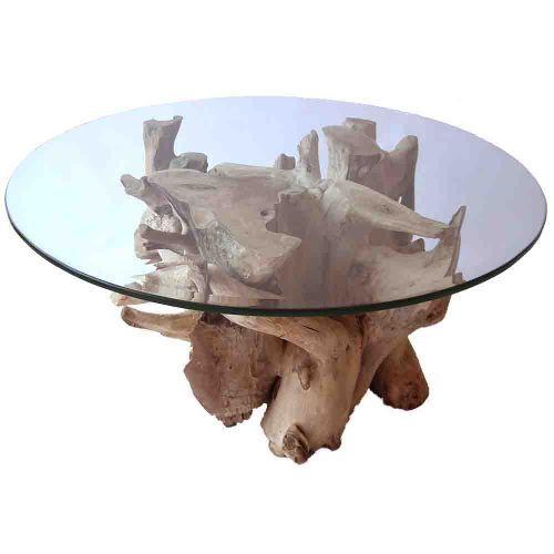 table basse racine de teck 90cm http meuble meubles en racine. Black Bedroom Furniture Sets. Home Design Ideas