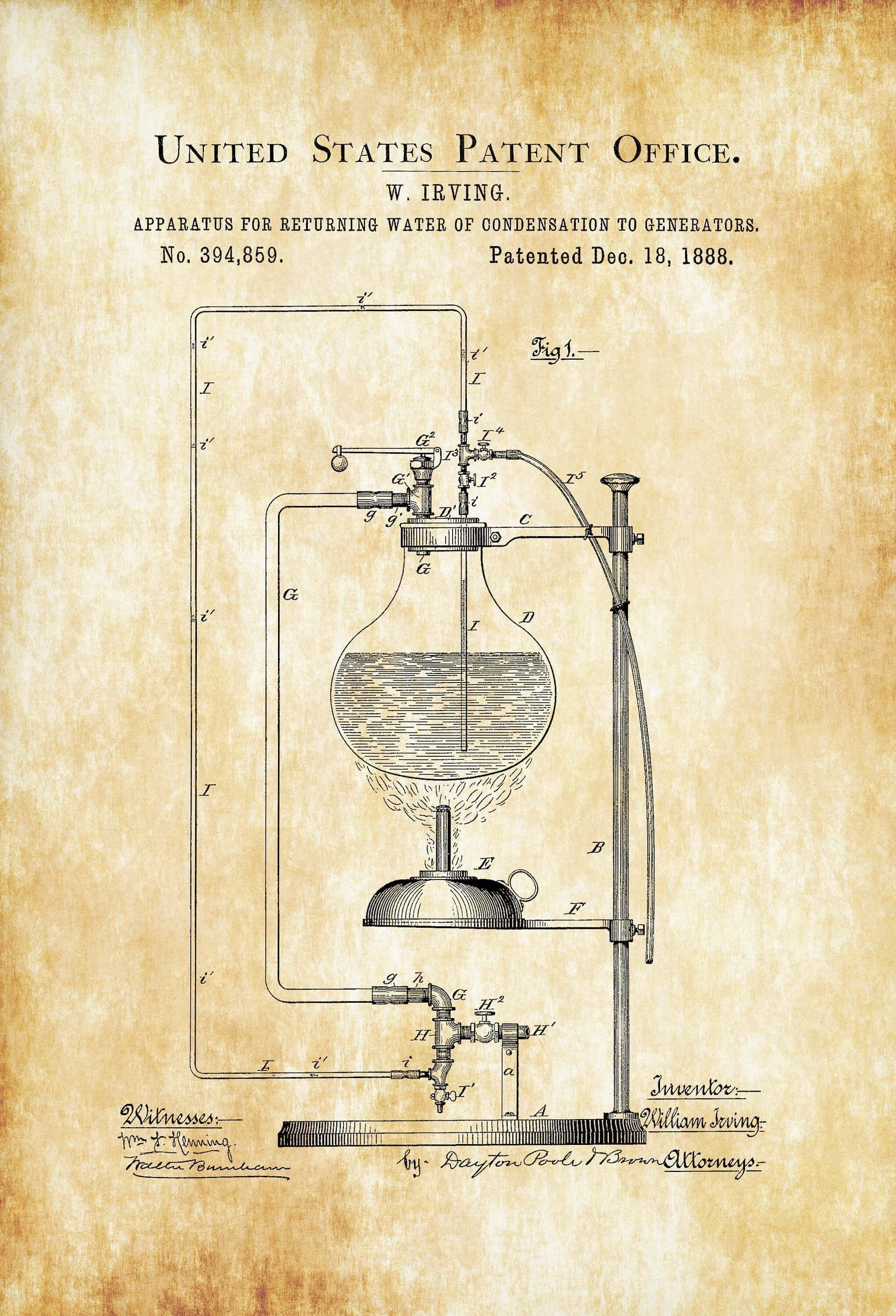 Cold Air Pressure Apparatus For Beer Brewing Patent Print Poster Unframed