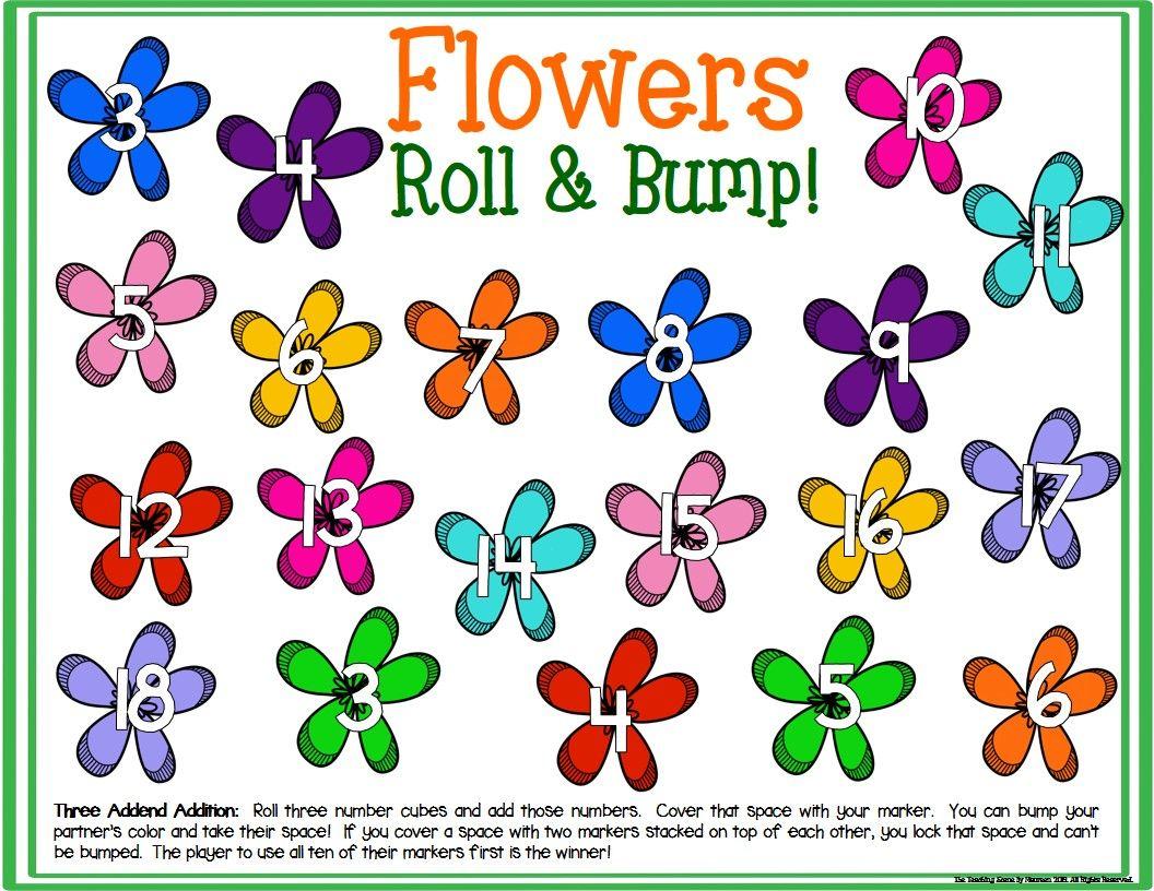 Flowers Math Center Dice Games