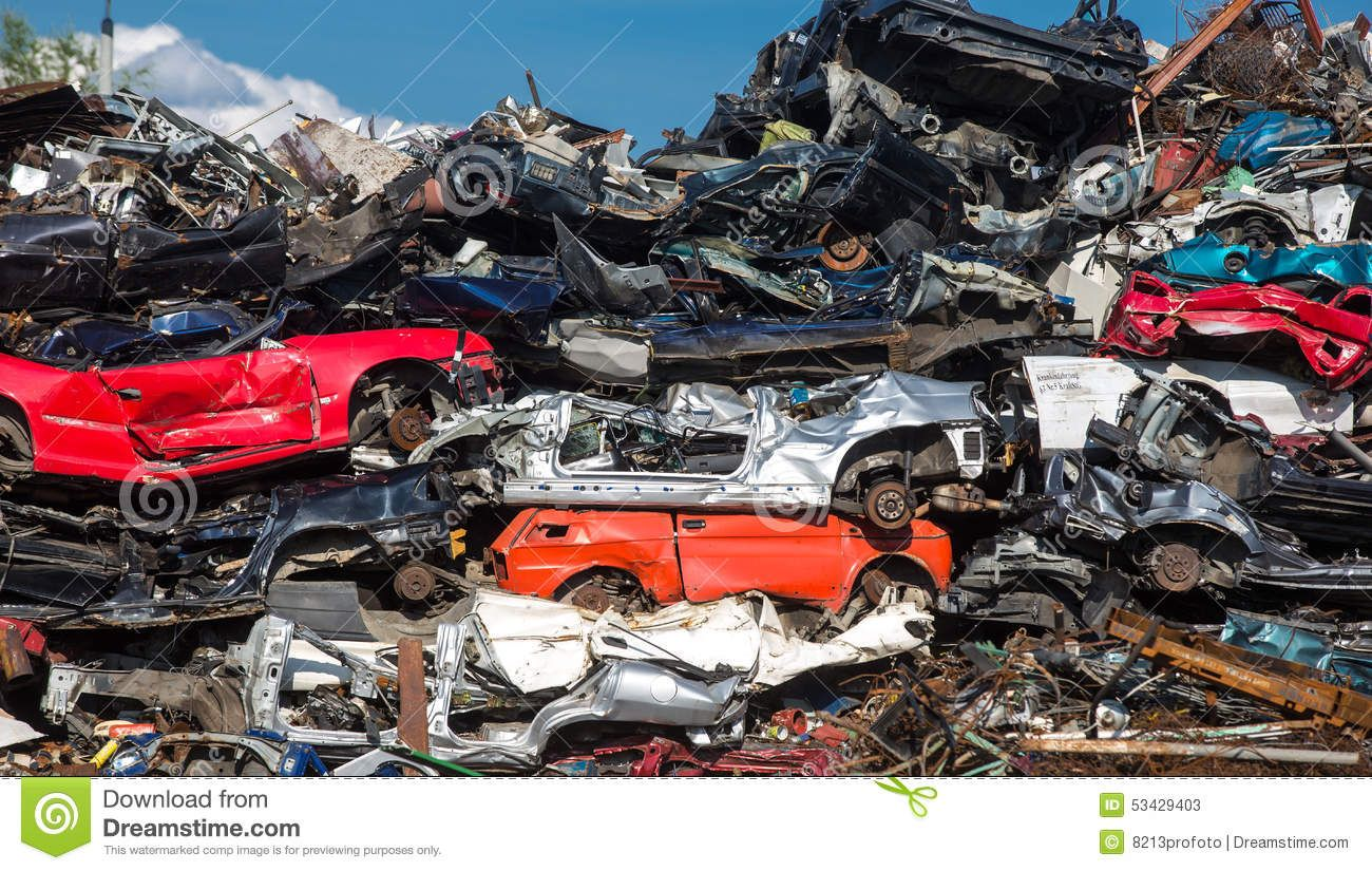 Pile Of Used Cars Car Scrap Yard Stock Image Image Of Infrastruktura Accident 53429403 Used Cars Cars Scrap
