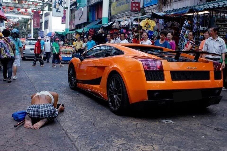 Lamborghini And The Beggar The Human Condition Pinterest Dream