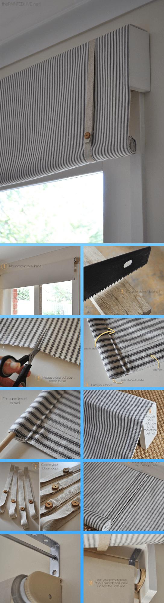 Do It Yourself Window Treatments: 13+ Stunning Farmhouse Window Treatment Projects & Ideas