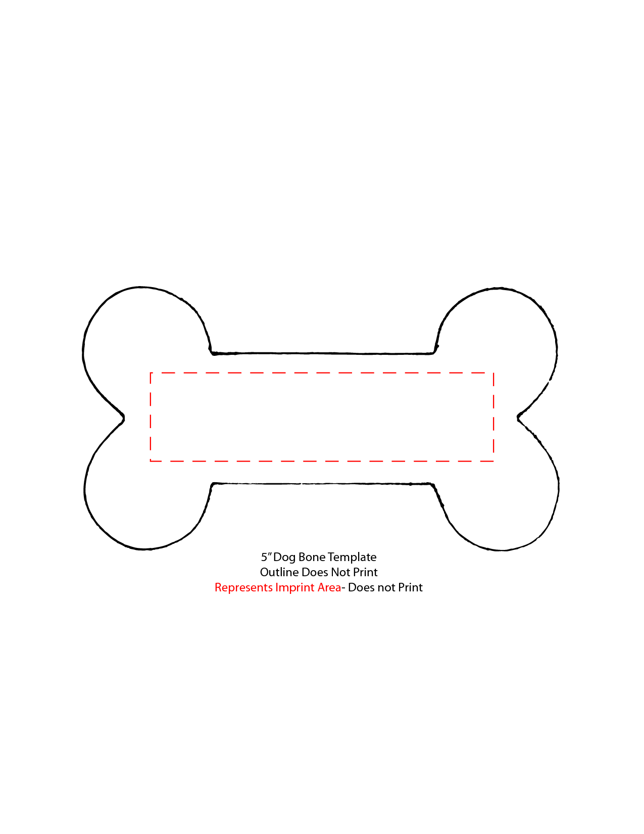 It is an image of Inventive Dog Bone Template Printable