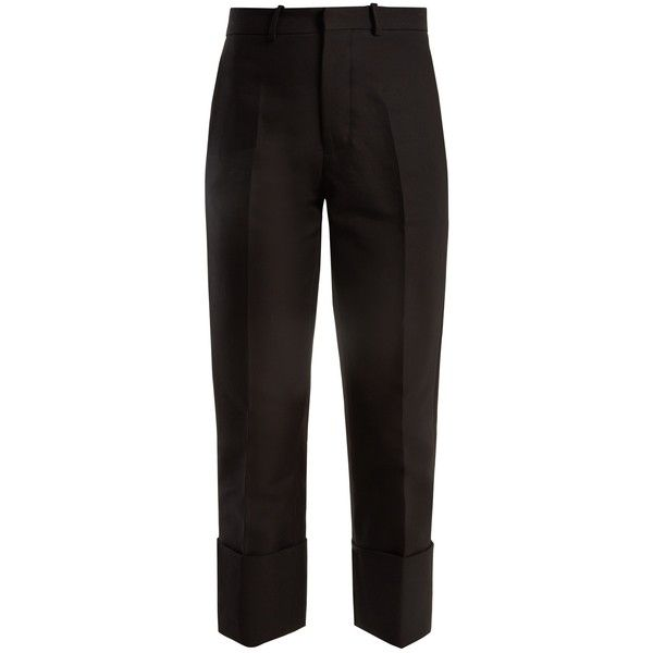 Cropped Cotton Slim-leg Pants - Black Marni Y56sE