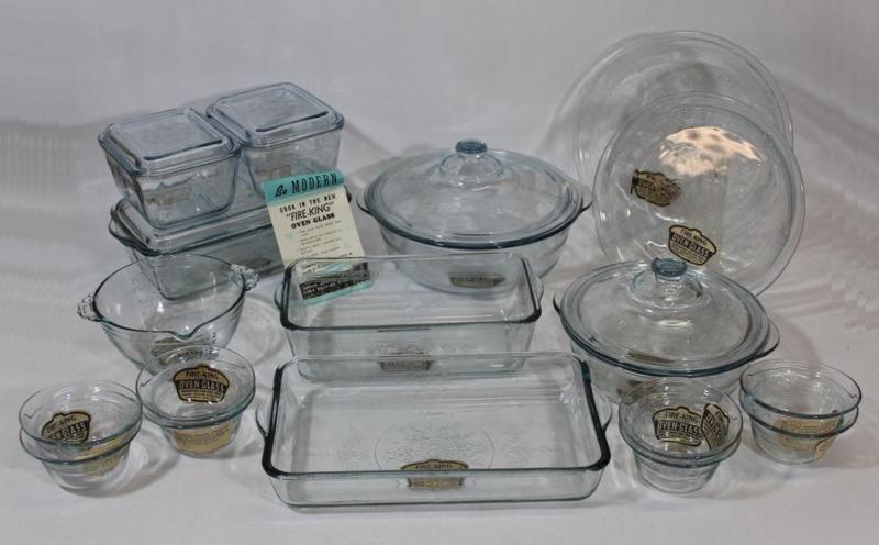 Vintage Old 23pcs Sapphire Blue Philbe Fire King Oven Glass Glassware Baking Set Ebay