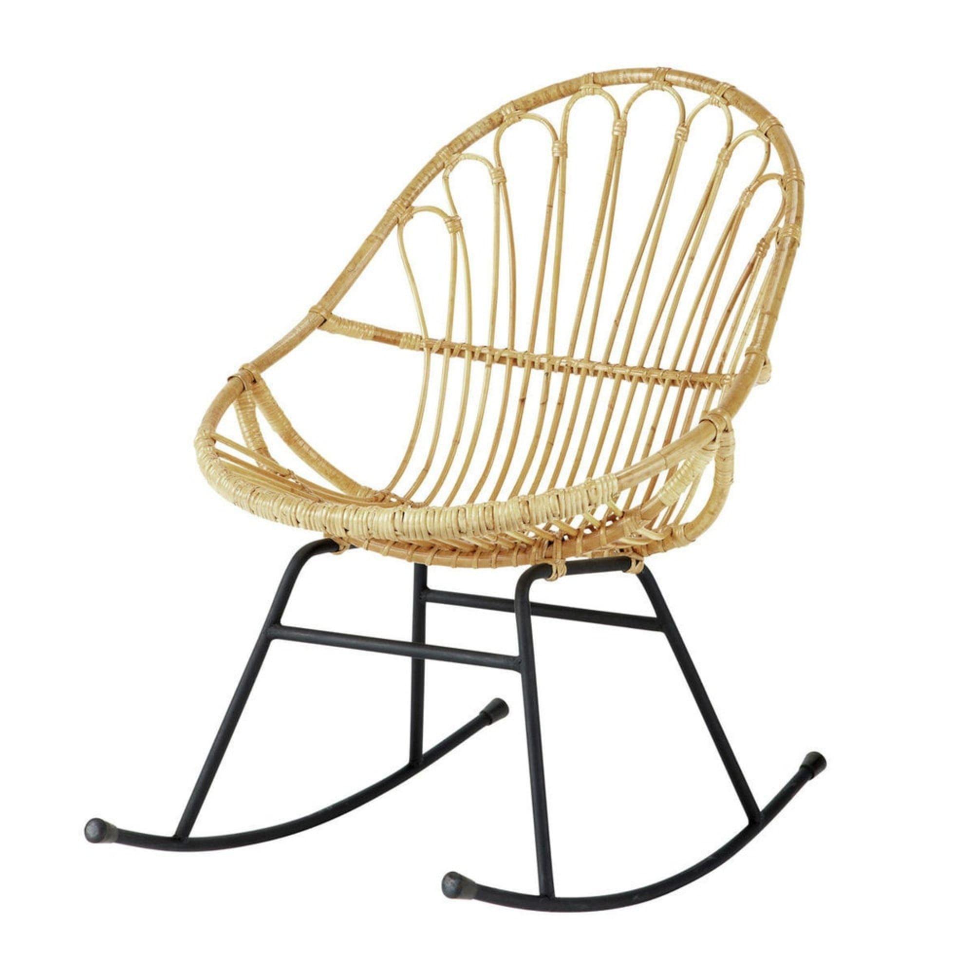 Fauteuil A Bascule En Rotin Petunia Maisons Du Monde Rattan Rocking Chair Rocking Chair Rocking Armchair
