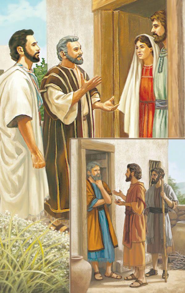 Los Discípulos De Jesús Predican El Mensaje Del Reino De Casa En Casa Apóstoles De Jesús Jesus Predicando Personajes Biblicos