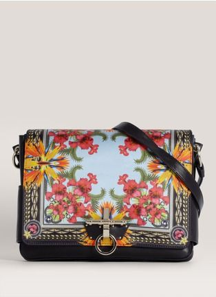 580d25037d Givenchy Obsedia printed satin and leather messenger bag