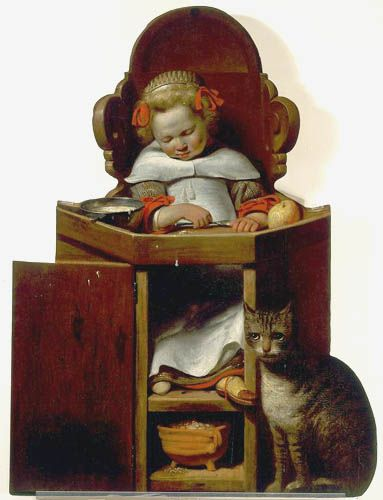 Johannes Cornelis Verspronck, Boy Sleeping in a High Chair, 1654 - Private collection