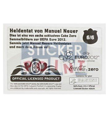 Panini Em Euro 2012 Manuel Neuer Sticker Set Stickerpoint Panini Sticker Panini Taten