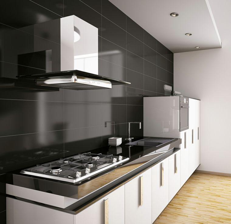 decoracion cocinas con azulejos en el salpicadero Interiores para