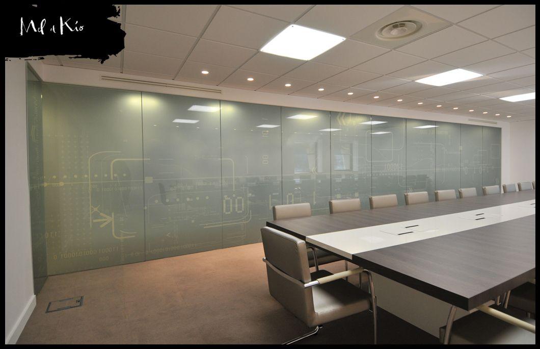 vitrophanie salle de réunion de direction générale du siège social ...