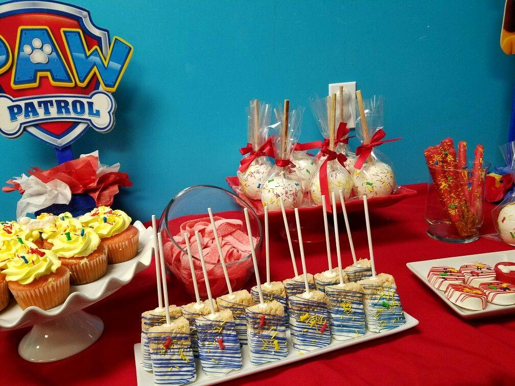 Paw Patrol Candy Table Paw Patrol Birthday Theme Paw Patrol Birthday Party Paw Patrol Treats