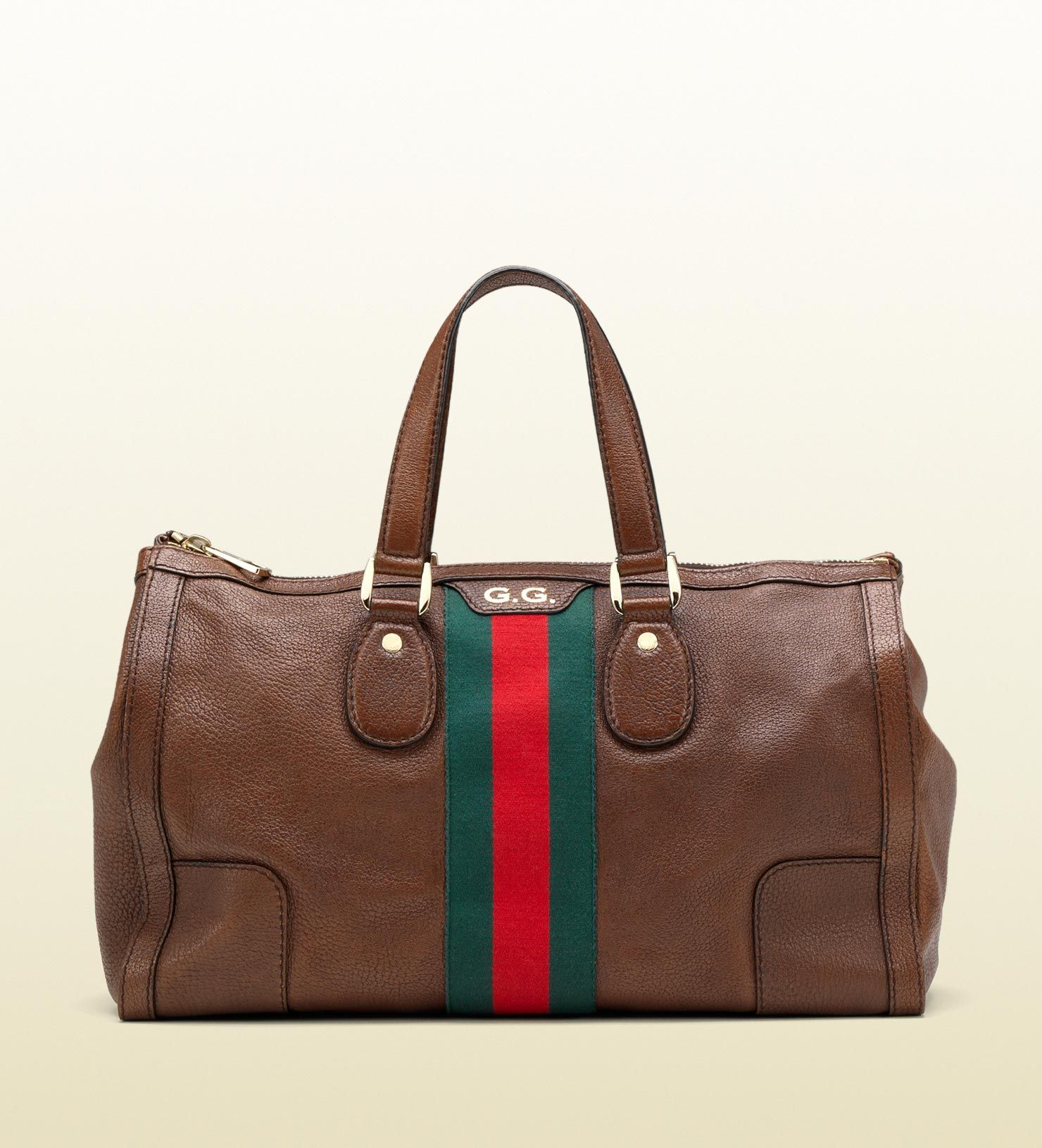 Gucci seventies medium tote with signature web