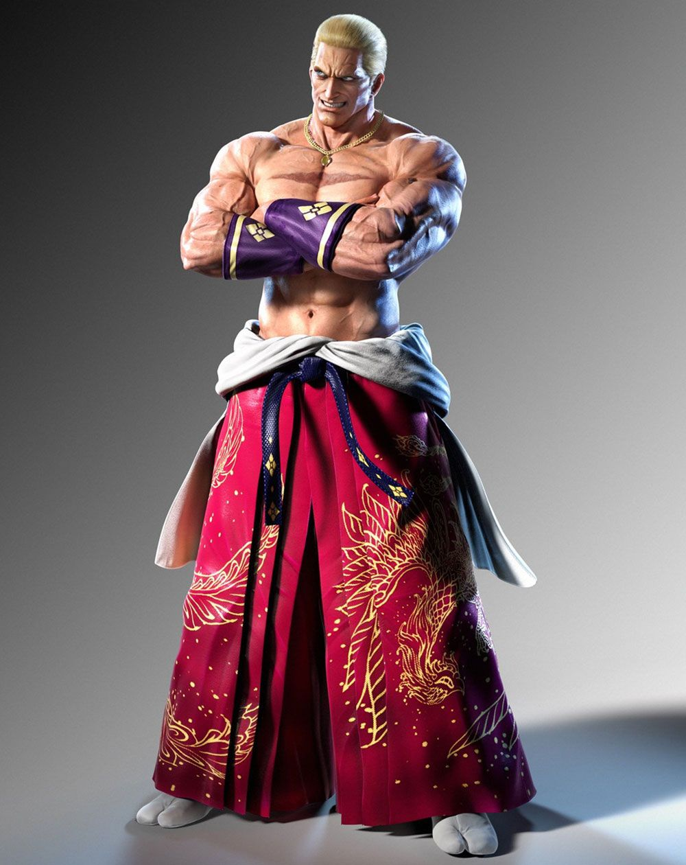 Geese Howard Character Artwork From Tekken 7 Fated Retribution