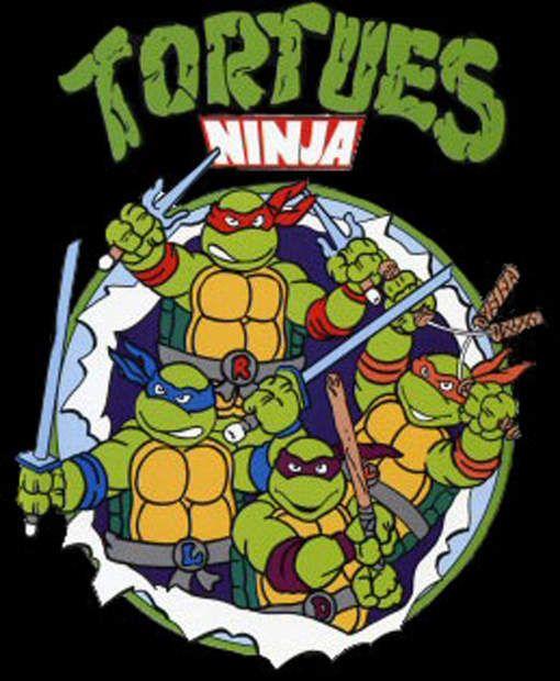les tortues ninja avec michelangelo qui mangeait plein de pizzas - Tortue Ninja