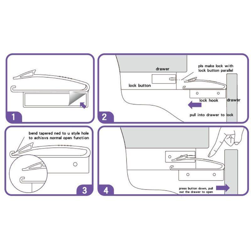 cerradura invisible para cajones