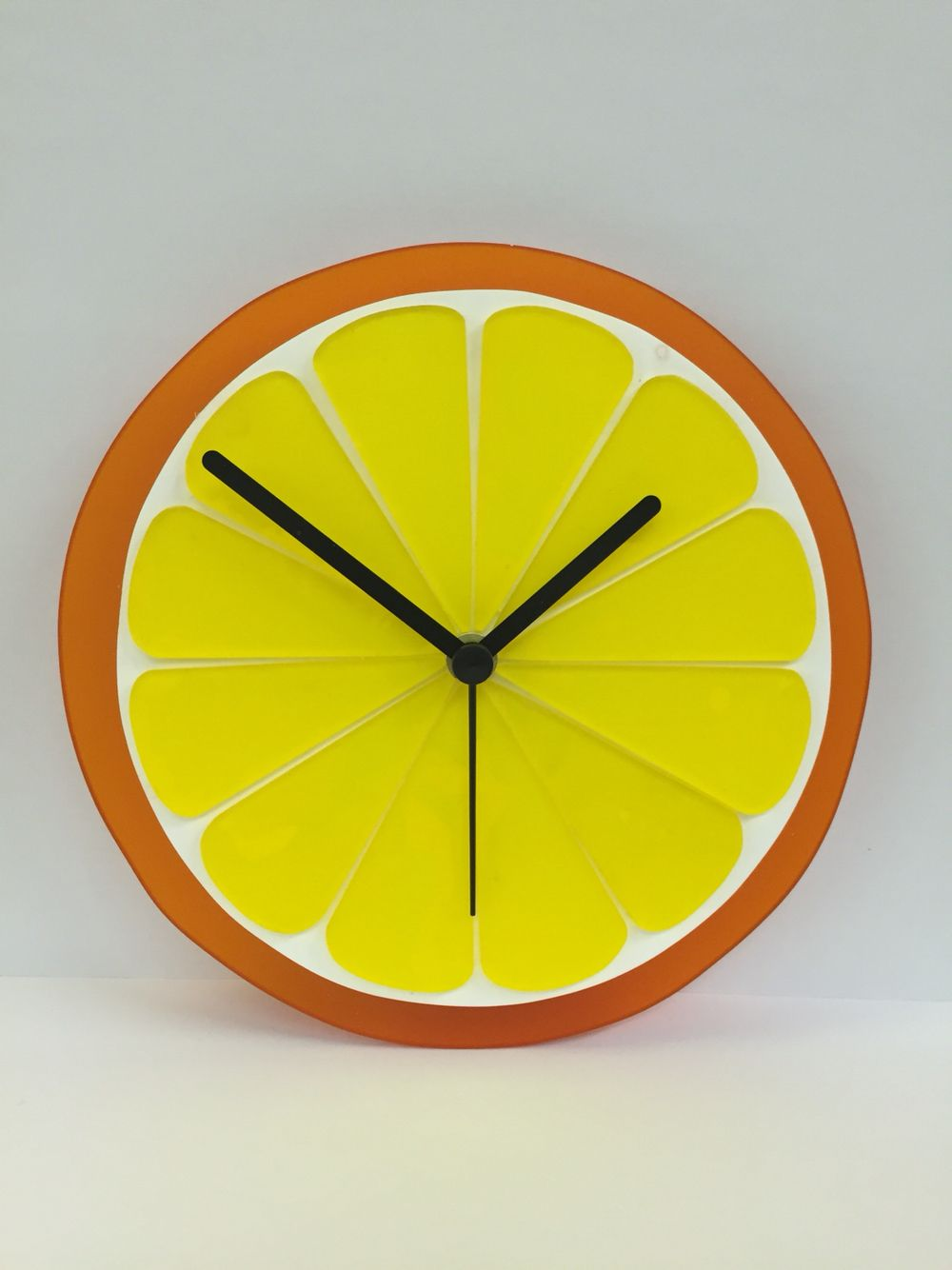 Handmade acrylic clock | color yellow decorations in 2019 ...