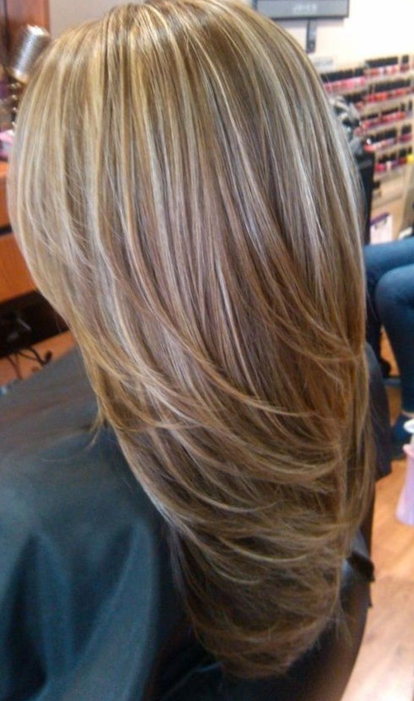 Cheveux méchés blond Coiffures in 2019 Brown hair with