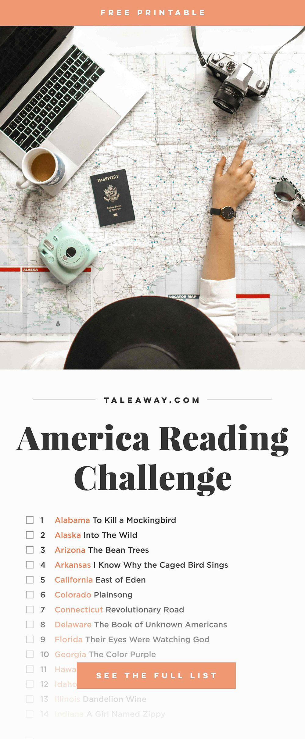 America Reading Challenge Books Set In Each State Reading