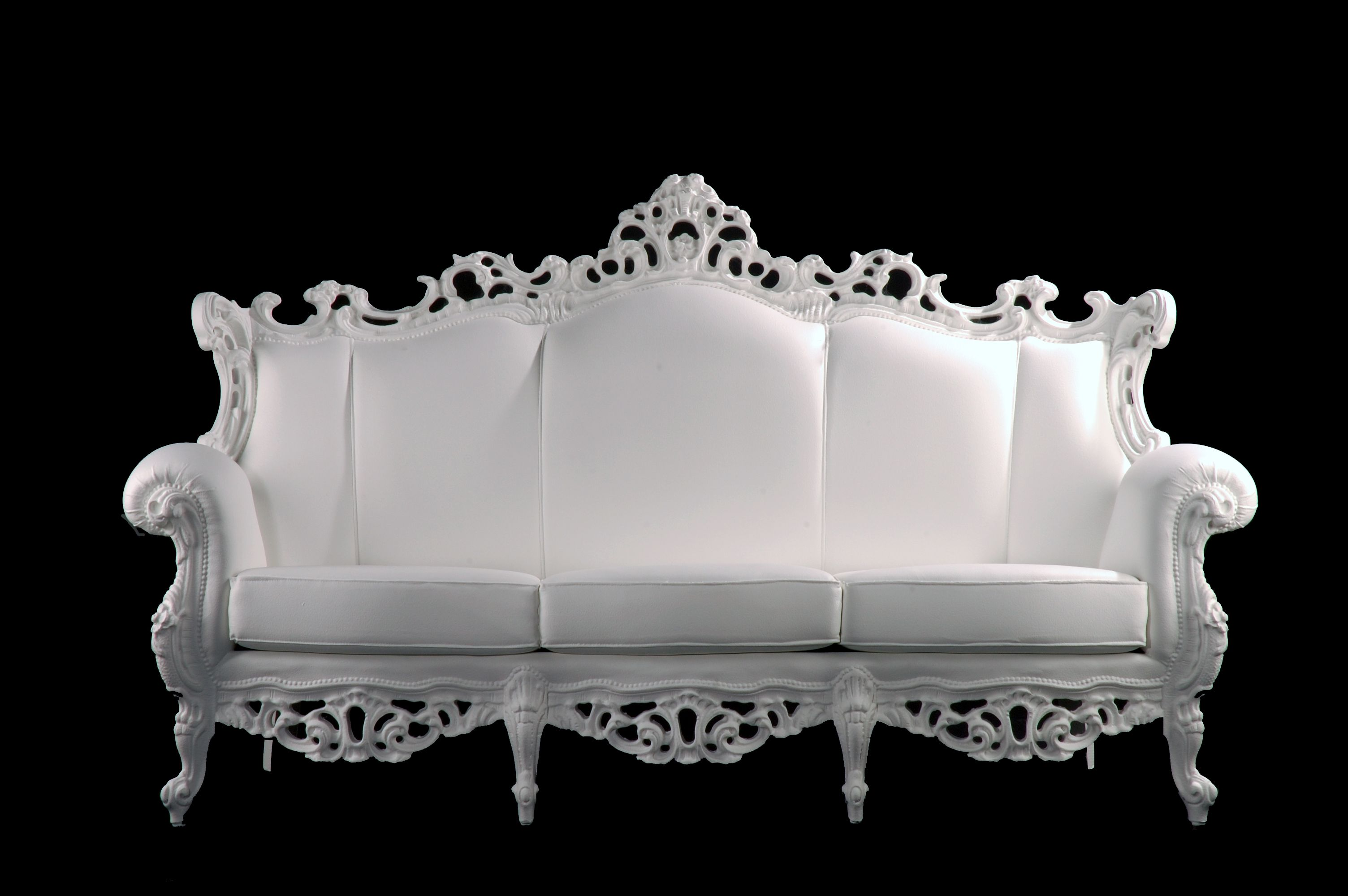 The Royal White Couch Carved Sofa Upholstered Sofa Furniture
