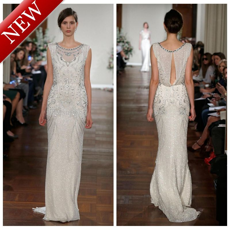 Scoop Ivory Jenny Packham Cap Sleeves Beaded Sequined Couture ...