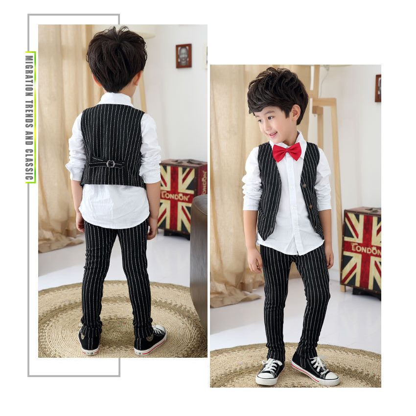 Boys Suits for Weddings Stripe Blazers Jackets Menino Kids Prom Suit ...