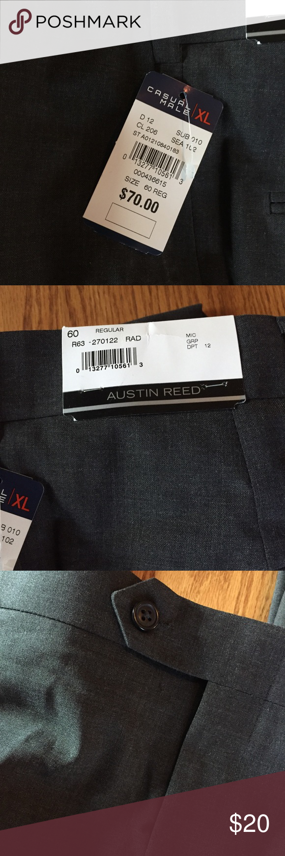Austin Reed Nwt Men S Plus Size 60 X 28 Pants Austin Reed Austin Men
