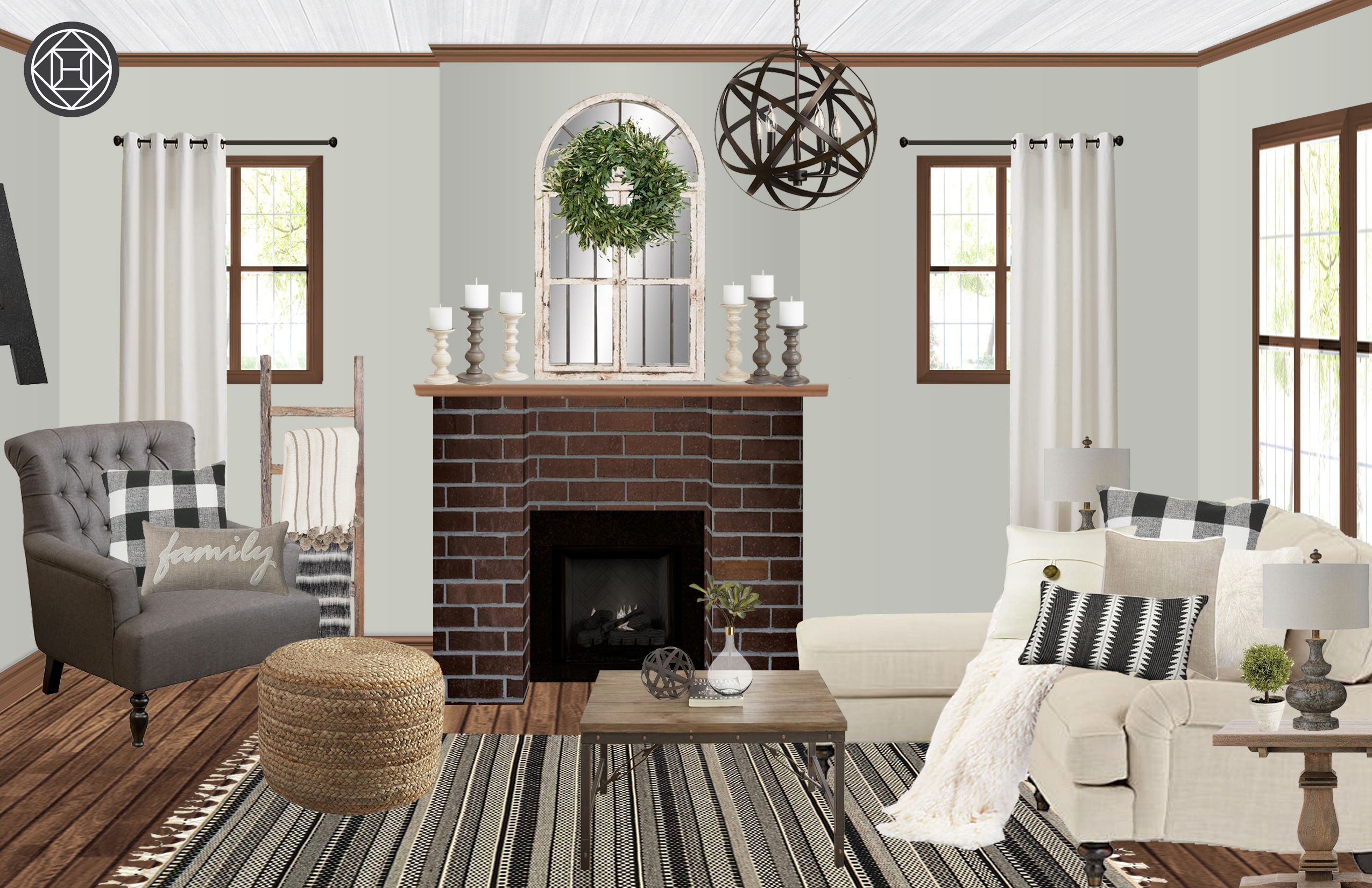 Hannah Jacobson Interior Designer Havenly Living Room Design