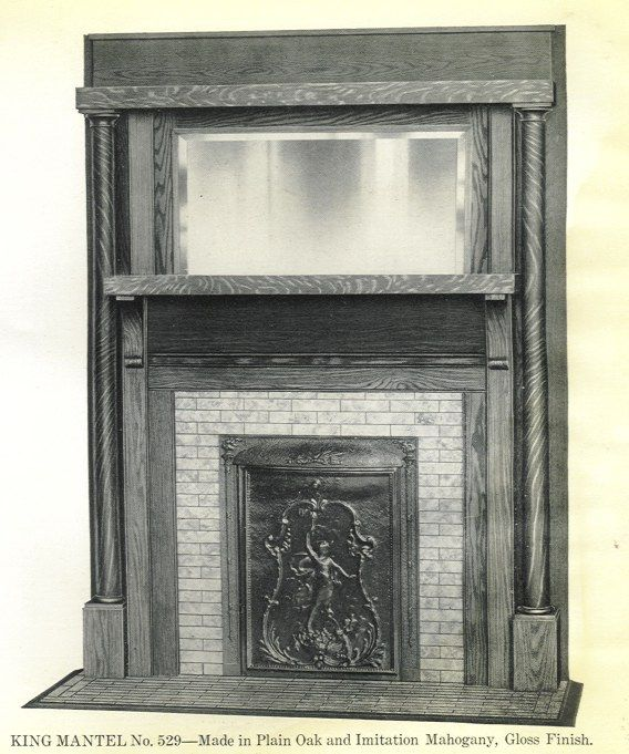 Fireplace Cover Coal Burning Fireplaces Of The Early 1900s