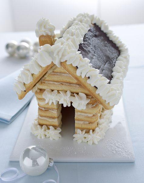 Dolci Di Natale Piemontesi.Casetta Di Natale Di Savoiardi I Savoiardi Sono Biscotti
