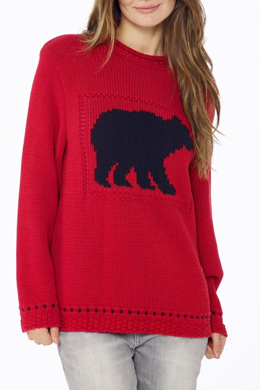 Cotton Country Catch a Bear Sweater | Red sweaters, Scoop neck and ...