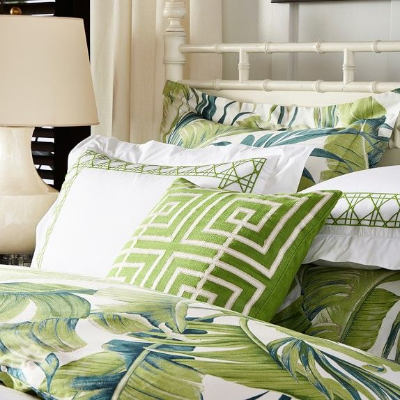 Tropical Leaf Bedding Williams Sonoma Bedrooms