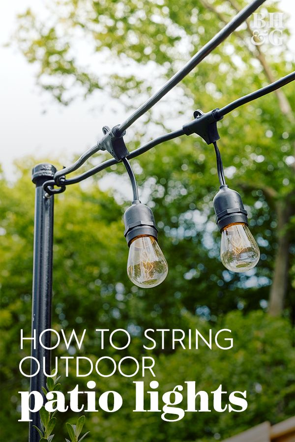 Hang Outdoor String Lights Anywhere in Your Backyard with Easy-to-Install Poles