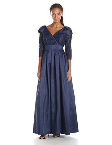 9b5cc767755 Jessica Howard Womens Portrait Collar Gown with Sash Navy 12    Read more  reviews of the product by visiting the link on the image.
