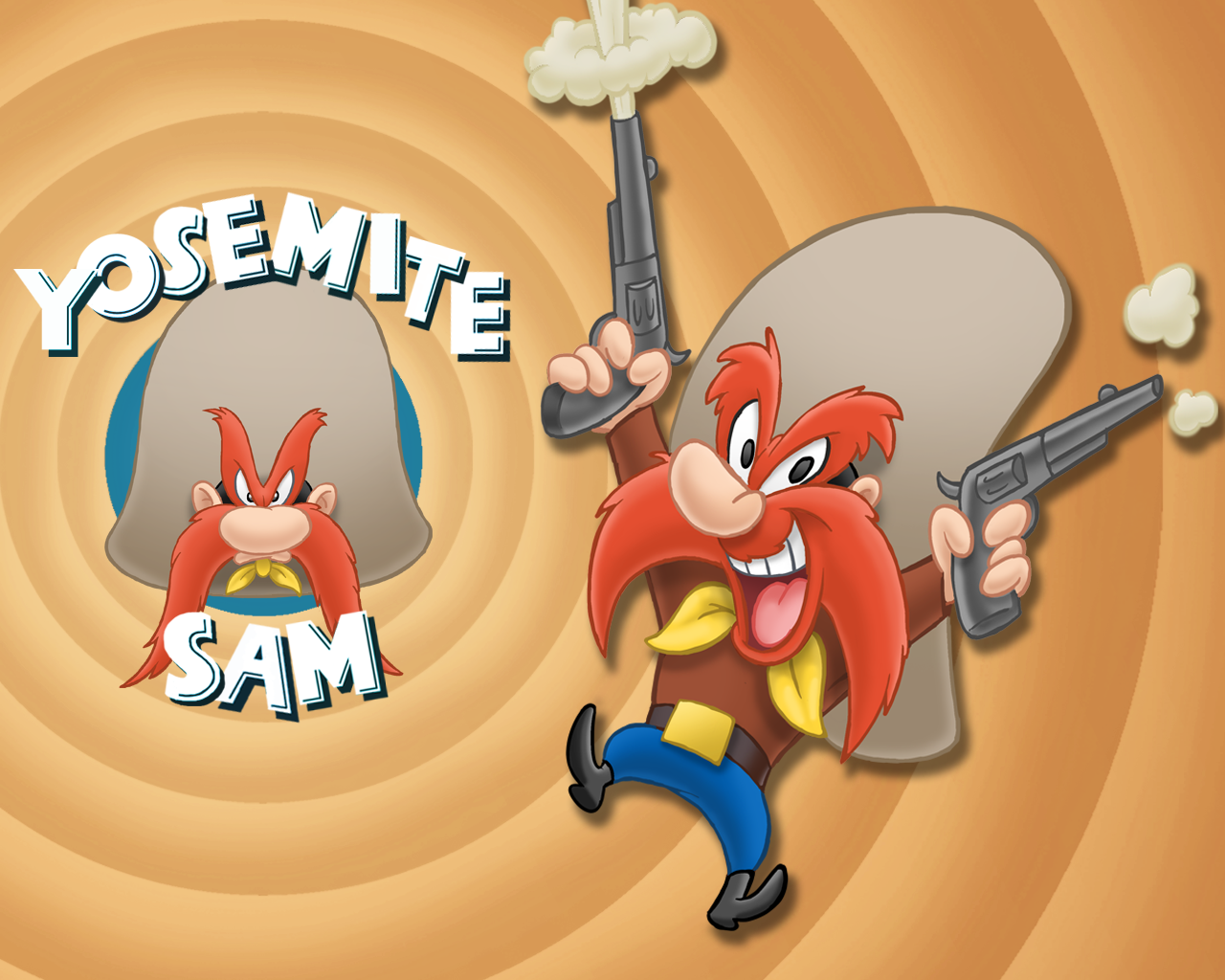 Yosemite Sam Is An American Animated Cartoon Character In The Looney Tunes And Merrie Melodies Series Of Cartoo Yosemite Sam Looney Tunes Cartoons Looney Tunes