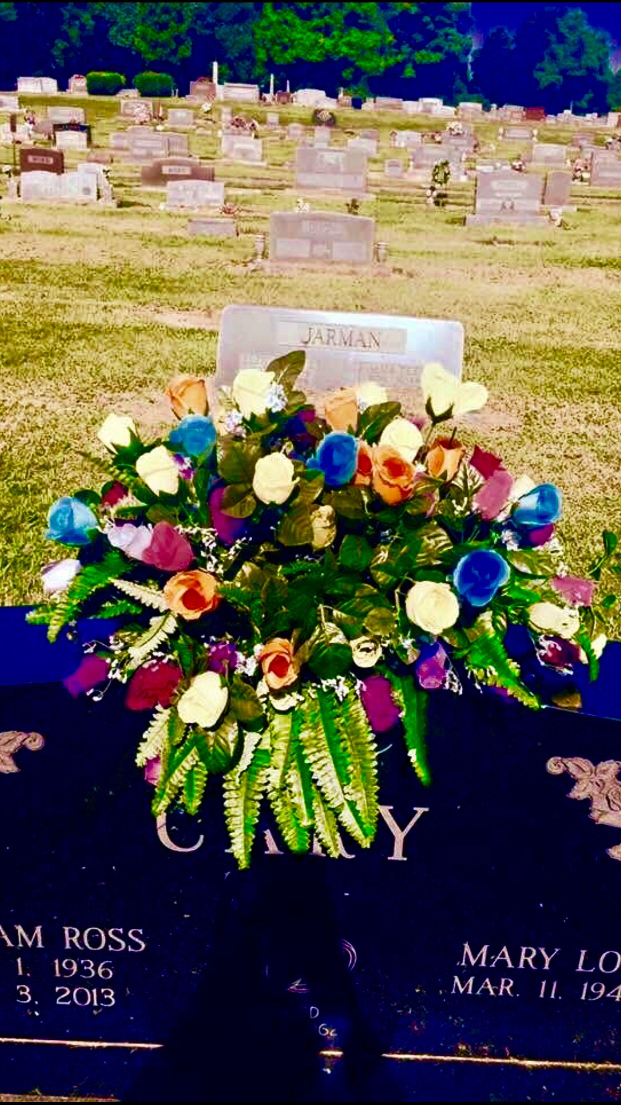 Flowers for my dads headstone saddleflowers funeralflowers flowers for my dads headstone saddleflowers funeralflowers funeral flowers cemetery izmirmasajfo Images
