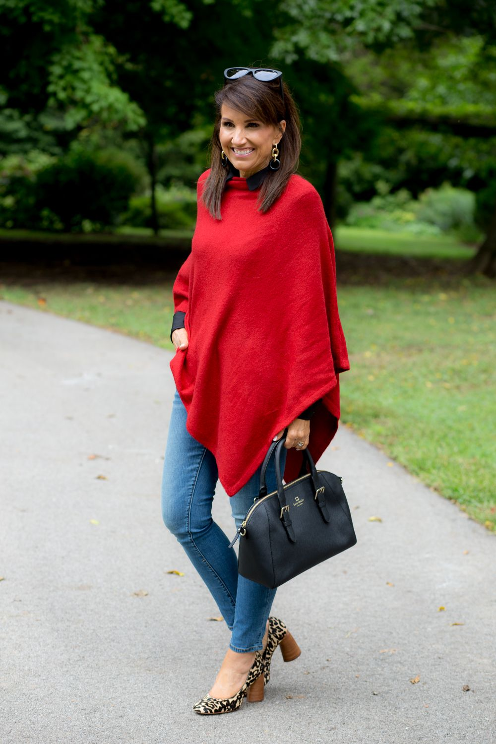 5d7a5a82a69 Red Poncho from Social Threads. Trendy and warm!  cyndispivey  falltrends   poncho