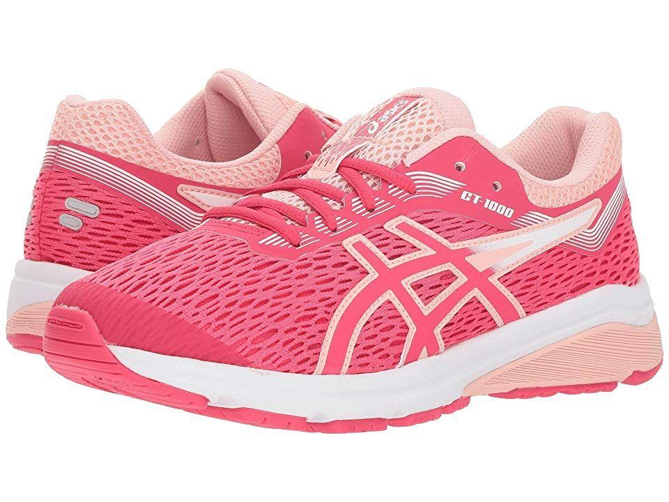68b0749324e6 ASICS Kids GT-1000 7 (Big Kid) (Pixel Pink Frosted Rose) Girls Shoes ...