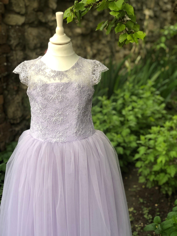 Lavender flower girl dress lilac dress birthday wedding