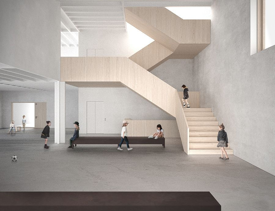 Elementary school in fribourg switzerland competition - Interior design for school buildings ...