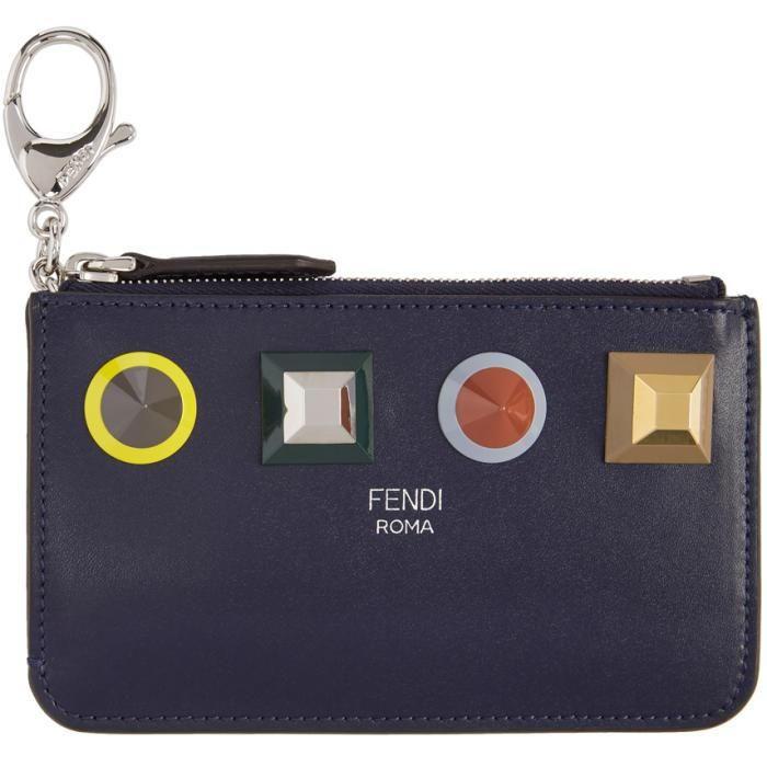 fc099b29c89a SSENSE - #Fendi Fendi Blue Rainbow Coin Pouch - AdoreWe.com | SSENSE ...